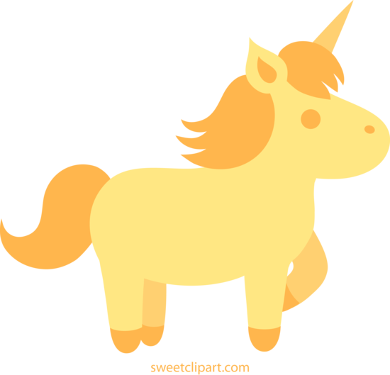 clipart royalty free download Golden clipart. Unicorn clip art free