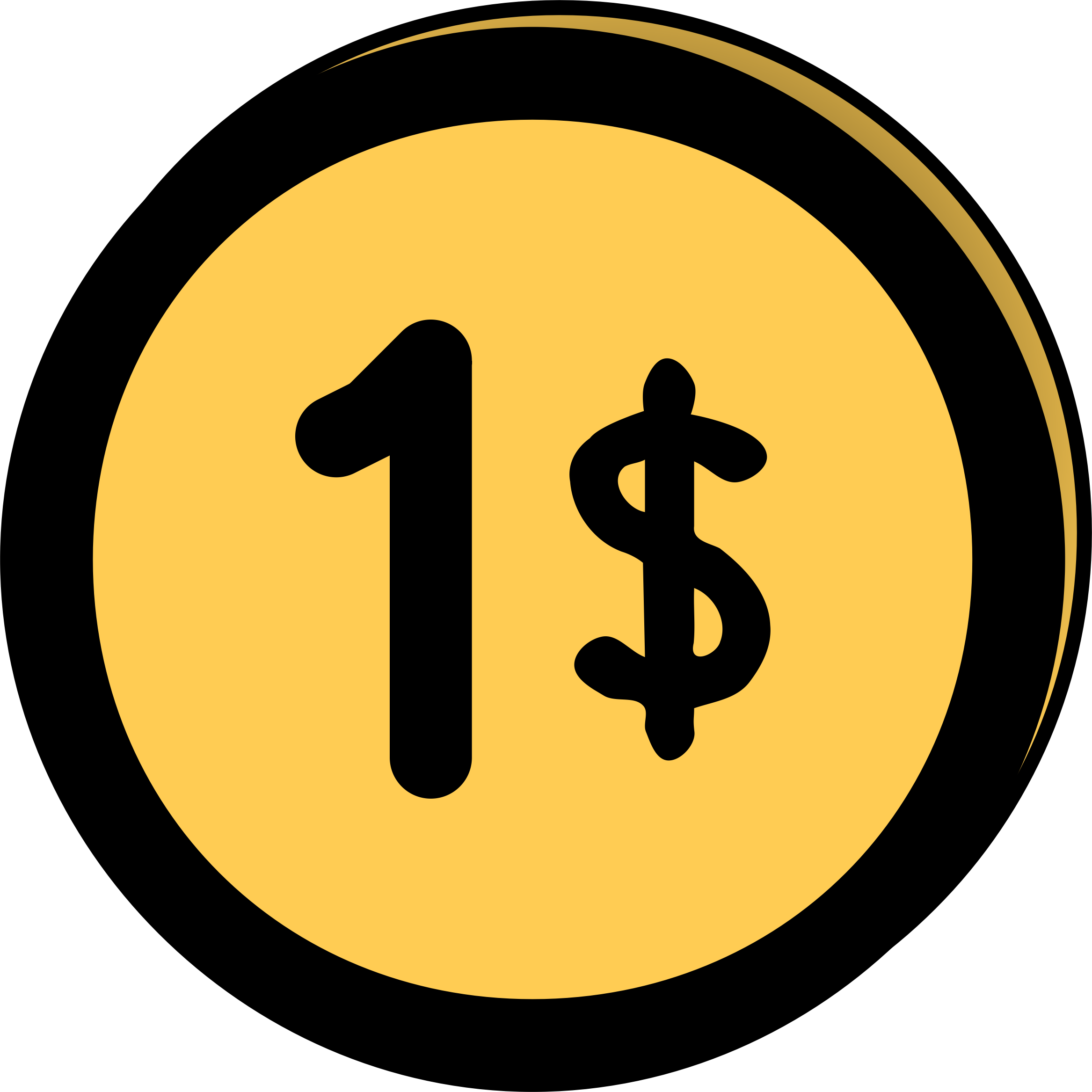 clip art free library Golden clipart dollar coin. Icons png free and