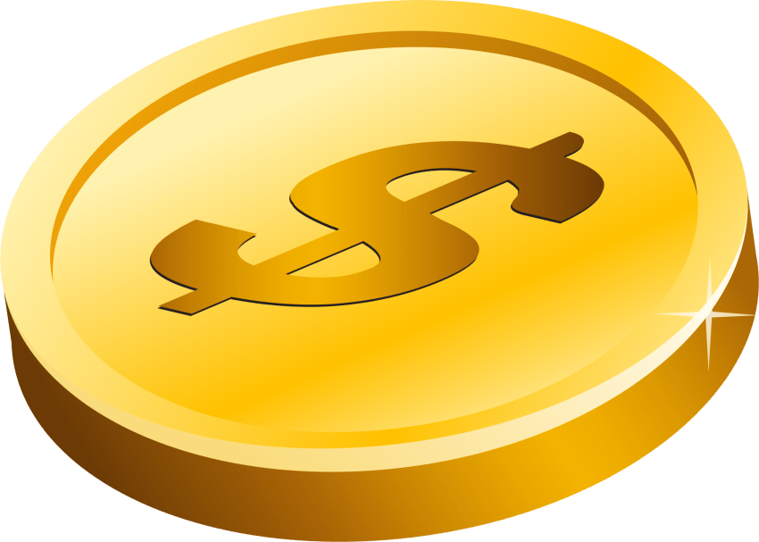 picture free library Gold png free images. Golden clipart dollar coin