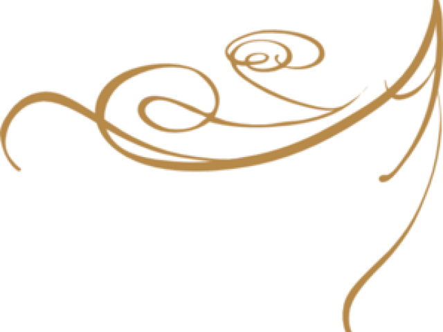banner royalty free library Golden clipart gold line. Decorative free on clip