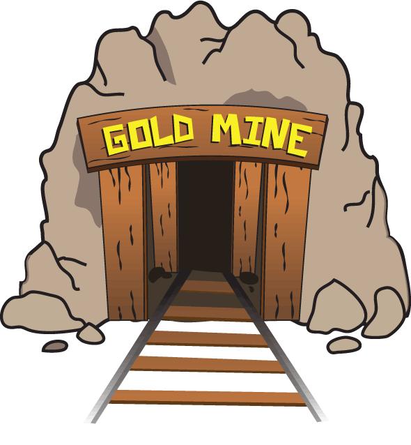 graphic black and white stock Mining som info. Golden clipart gold mine