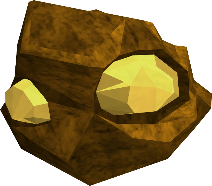 clip art transparent Golden clipart gold mine. Ore rocks runescape wiki
