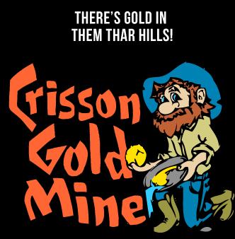 vector stock Crisson best in dahlonega. Golden clipart gold mine