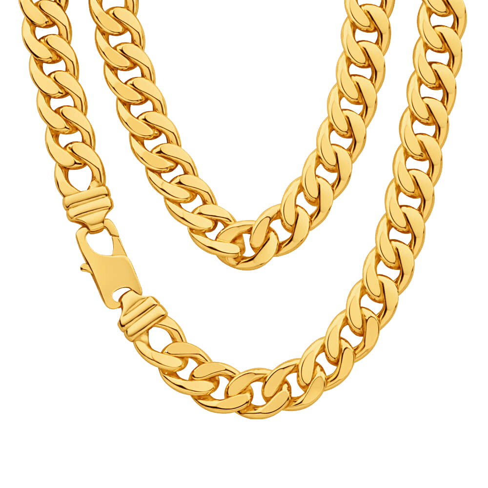 free download Thug Life Real Gold Chain transparent PNG
