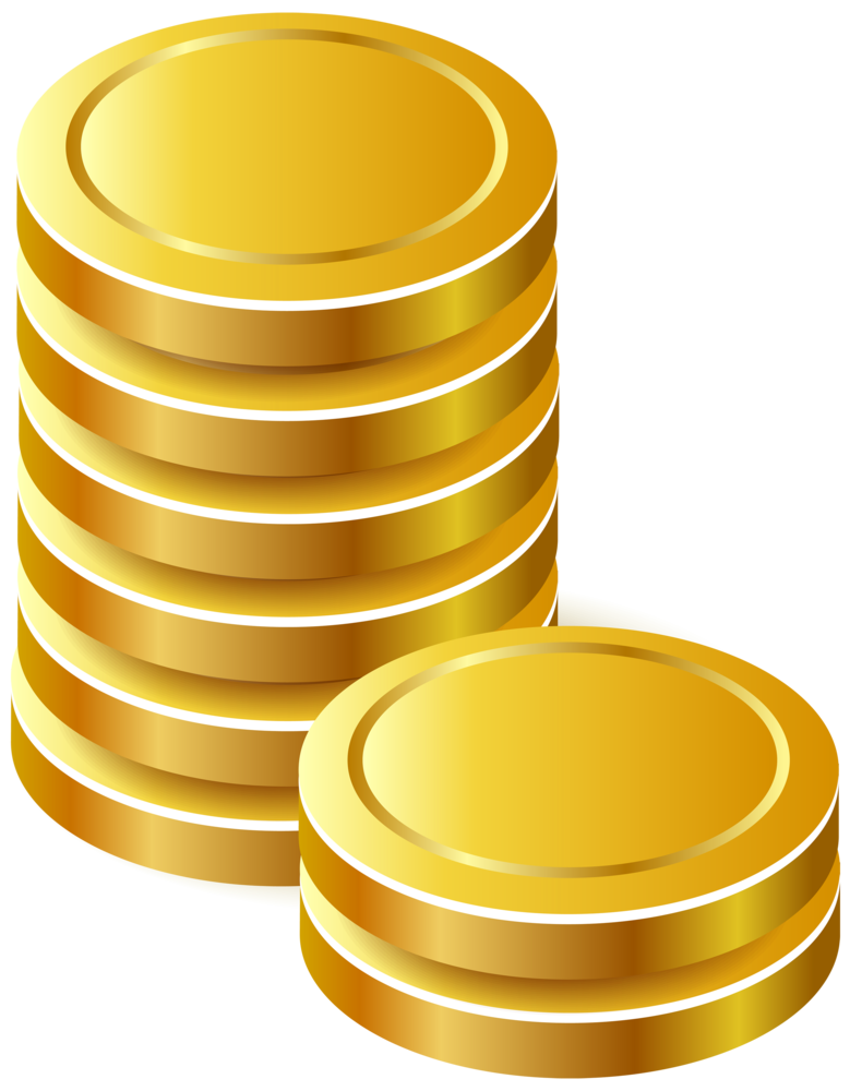 jpg royalty free Gold coins png . Golden clipart stacked coin