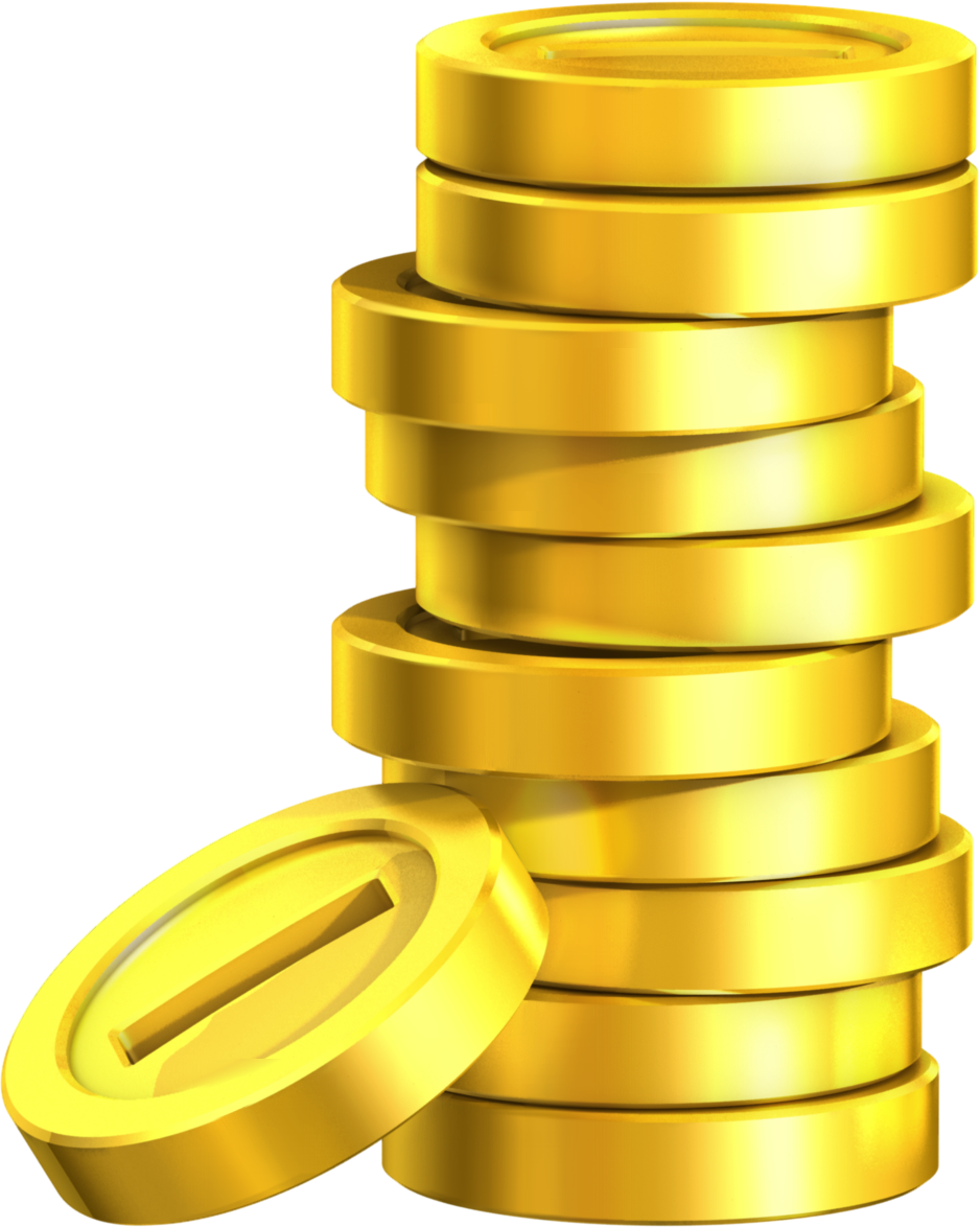 clipart transparent Golden clipart stacked coin. Super mario land coins