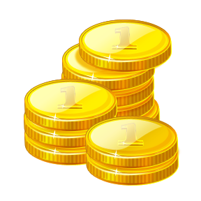 png royalty free download Golden clipart stacked coin. Yellow free on dumielauxepices