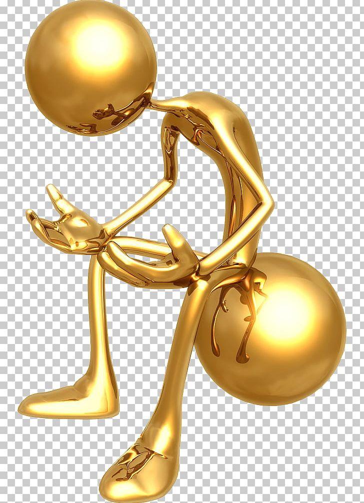 picture  d computer graphics. Golden clipart stick figure