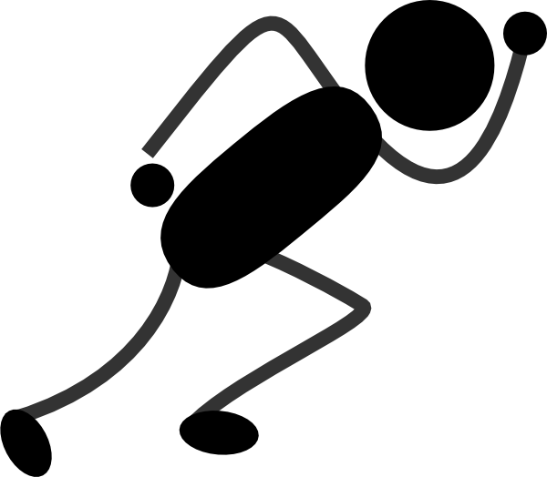royalty free library Golden clipart stick figure. Running black clip art