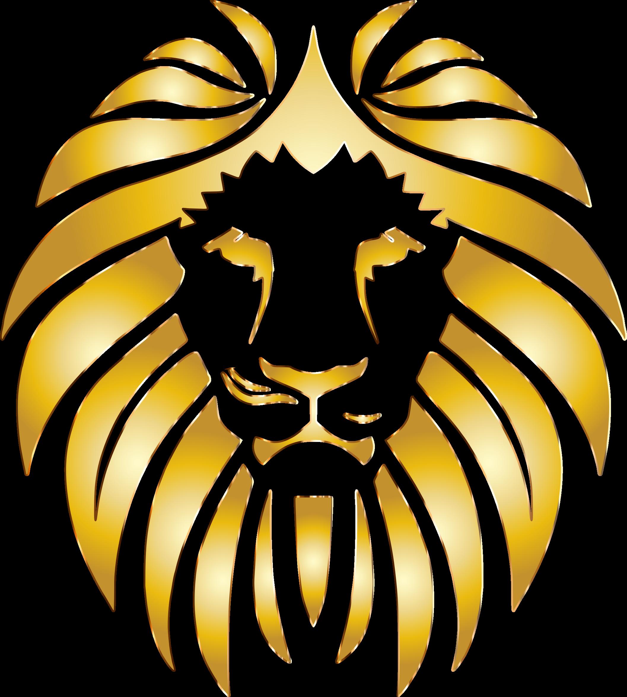 png black and white Golden clipart transparent. Lion no background big