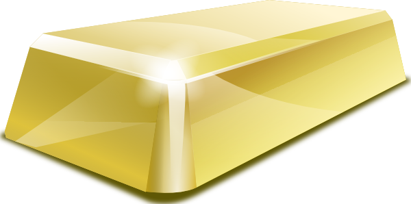 graphic royalty free download Golden . Gold clipart gold block