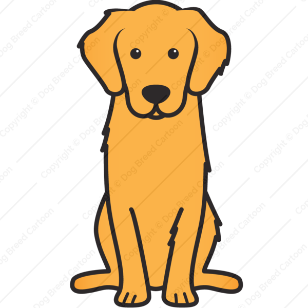clipart royalty free download Golden retriever clipart behind. Cartoon brilliant ideas coloring