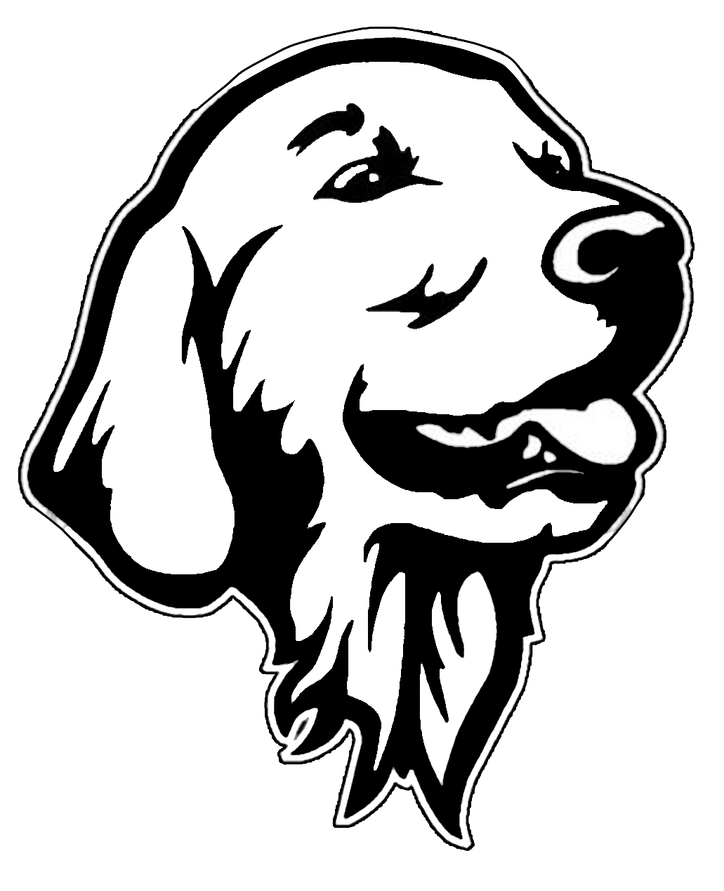 graphic freeuse stock Decal dogs make me. Golden retriever clipart clip art