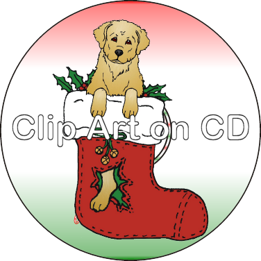 banner library Golden retriever clipart clip art. On cd christmas argostar