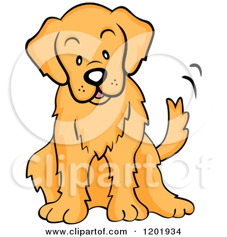 graphic library library Golden retriever clipart clip art.  clipartlook