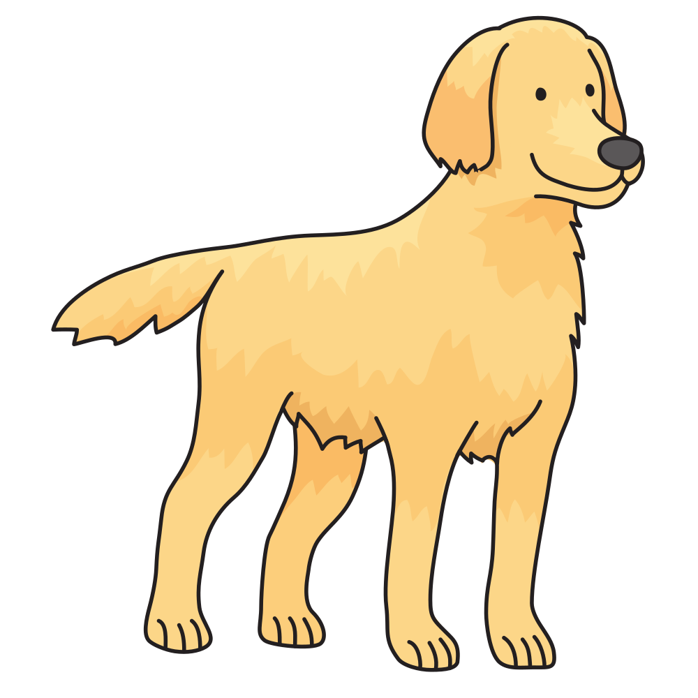 banner transparent download Golden lab clipart. Onlinelabels clip art dog