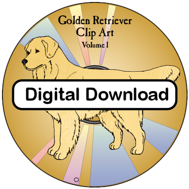 png free download Clip art volume digital. Golden retriever clipart one dog