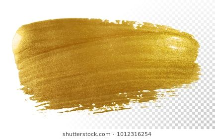 svg royalty free library Paint brush smear stroke. Vector color gold