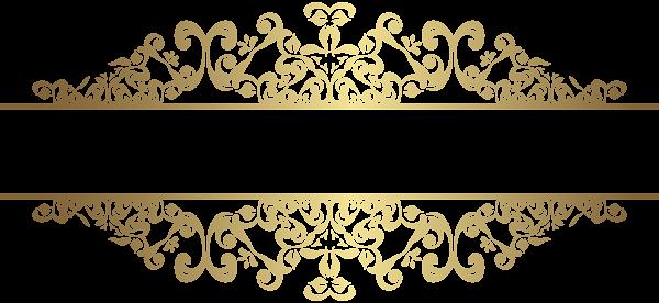 jpg transparent stock Gold Decorative Element PNG Clip Art