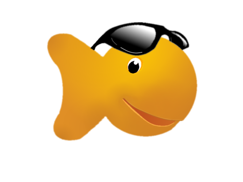 graphic black and white stock Transparent free on dumielauxepices. Goldfish clipart.