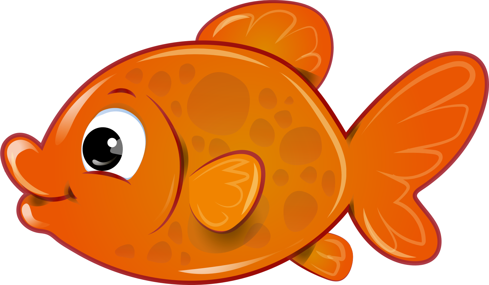 graphic royalty free download Goldfish clipart 4 fish. Food black and white