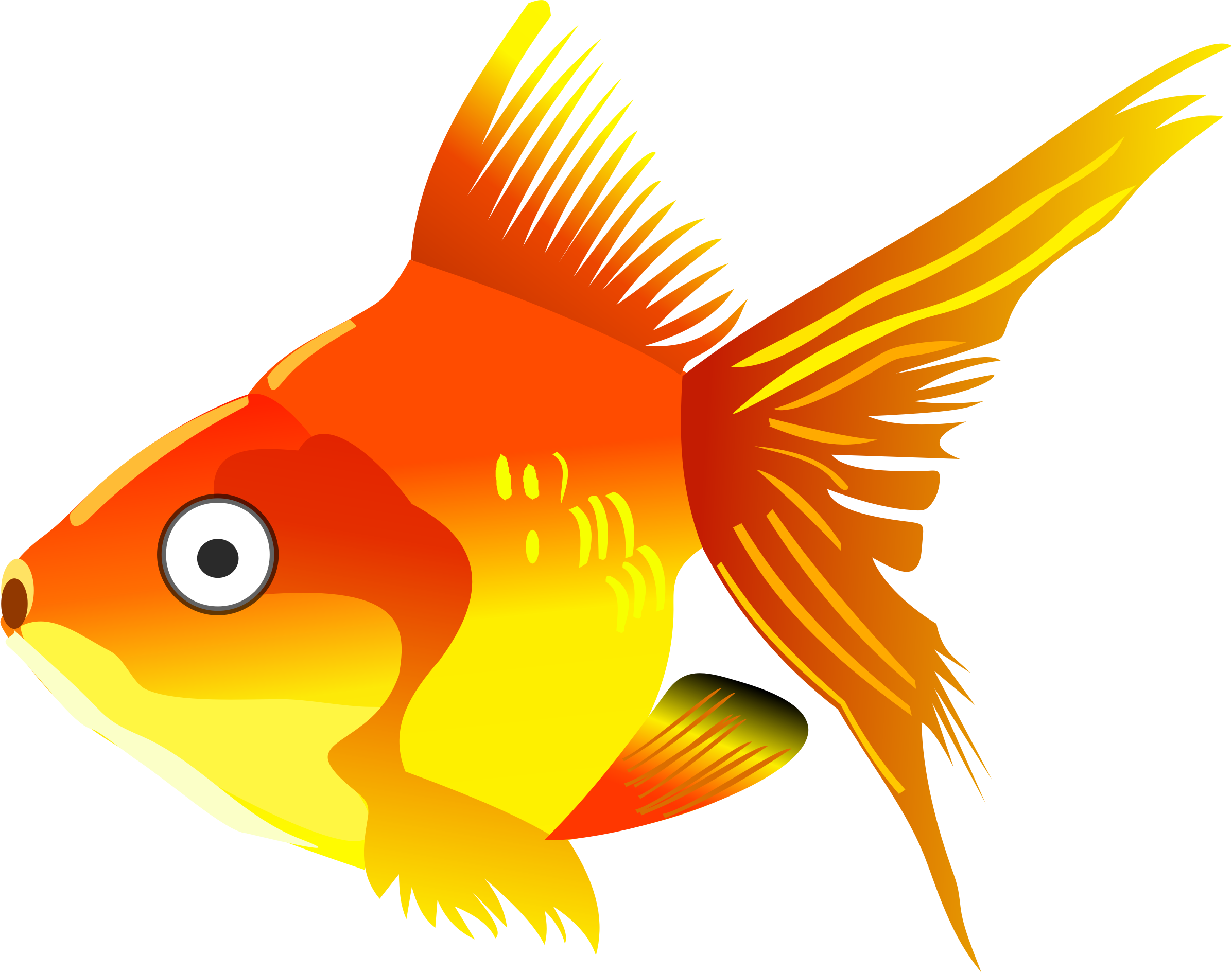 picture black and white stock Goldfish clipart 4 fish. Cartoon big image png