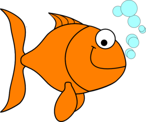image royalty free download At clker com vector. Goldfish clipart clip art