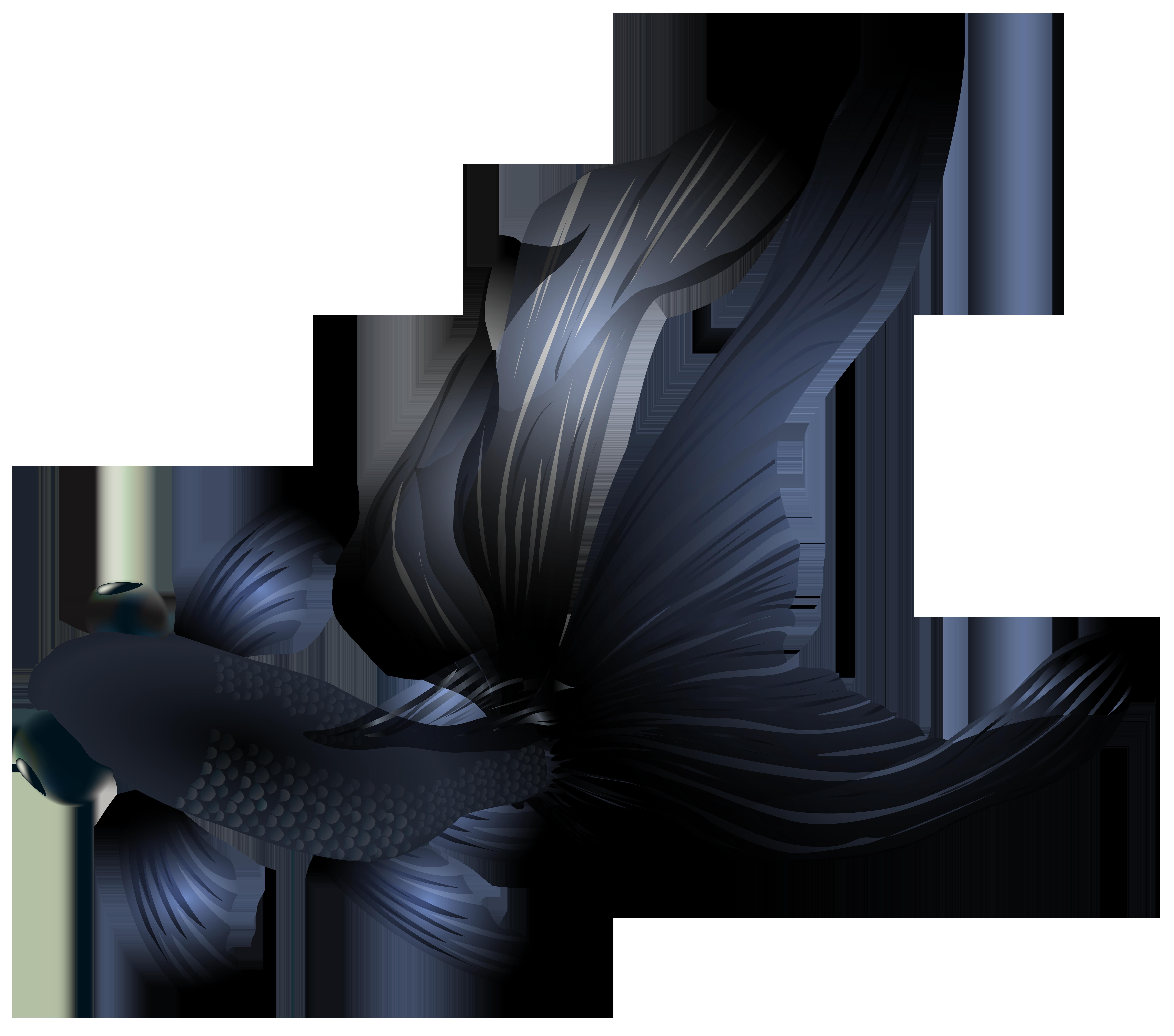 vector transparent Goldfish clipart clip art. Black png transparent image