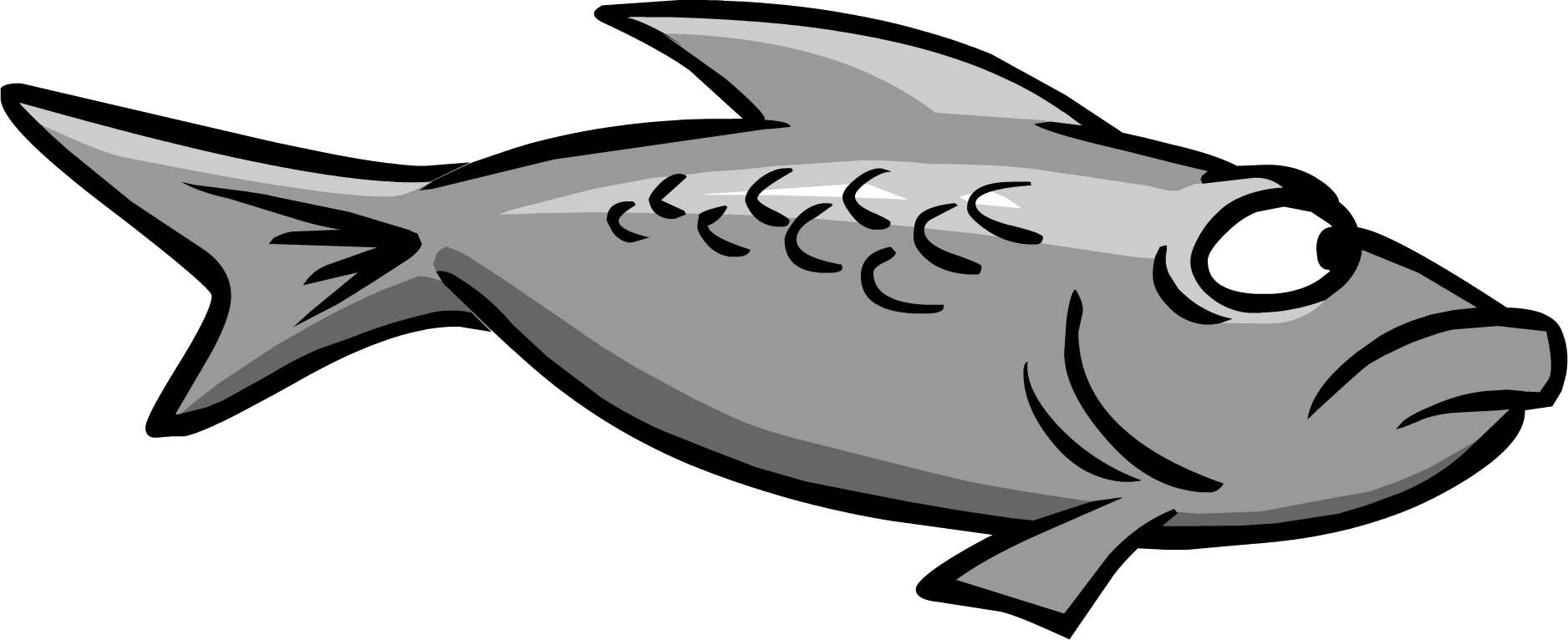 svg transparent Goldfish clipart dead crow. Gray fish club penguin