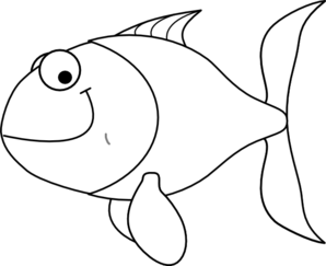 clip art black and white stock Goldfish clipart fishblack. Tropical fish laut free