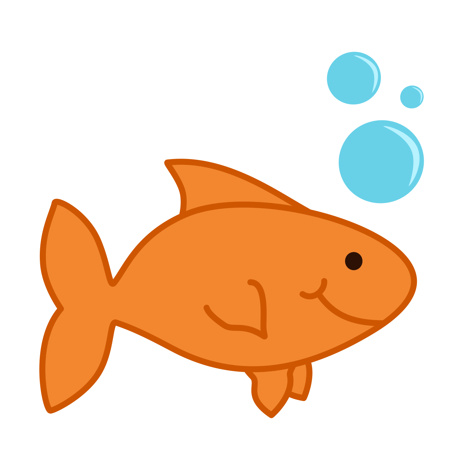 banner library library Cute Goldfish Clipart