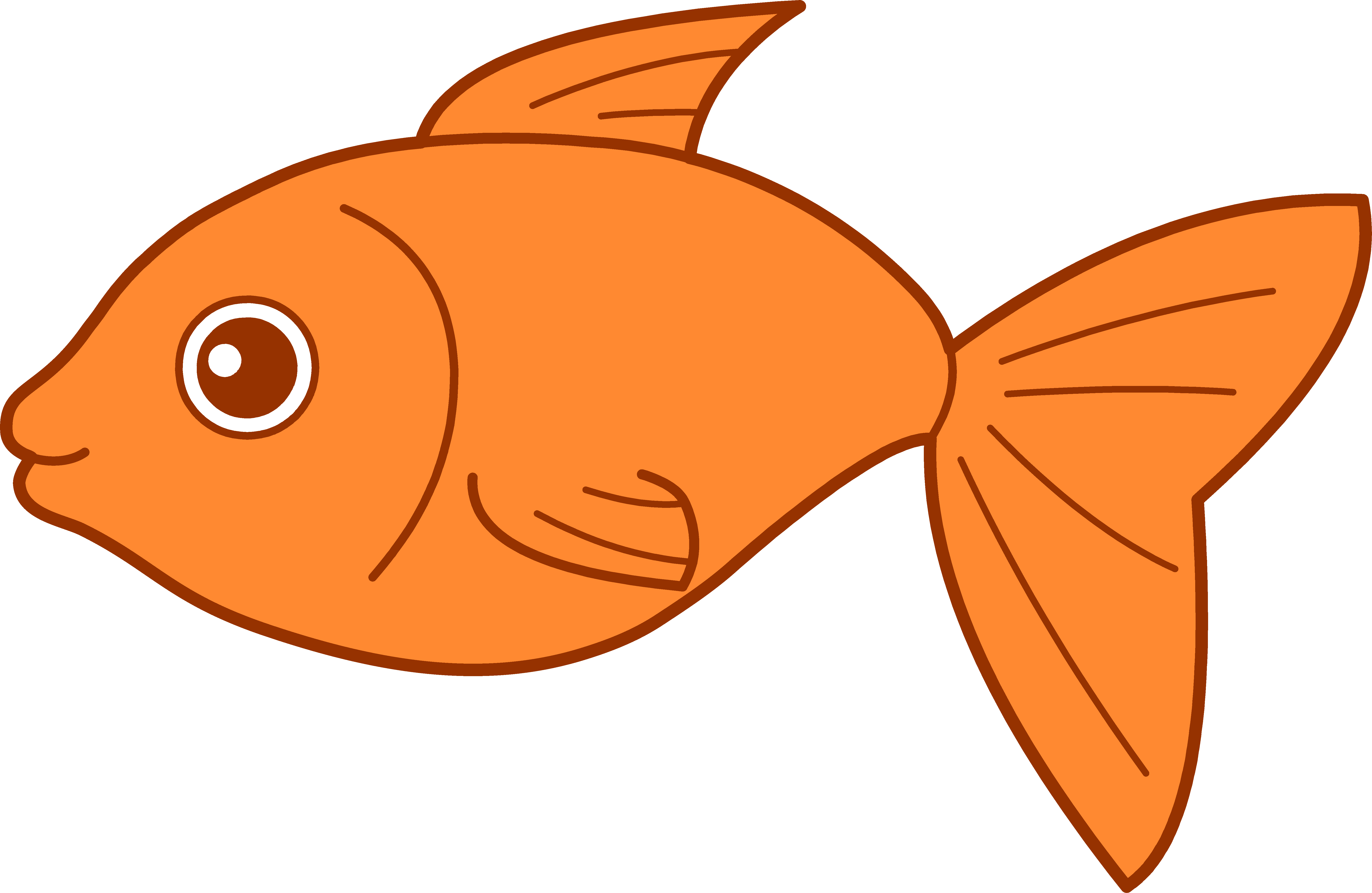 clipart free Cartoon fish clipartsco pinterest. Goldfish clipart things