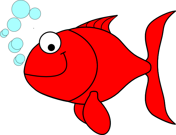 graphic freeuse stock Red clip art vector. Goldfish clipart things