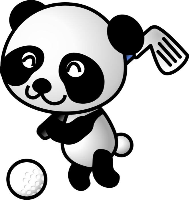 svg royalty free stock Action clipart cute. Free golf and animations