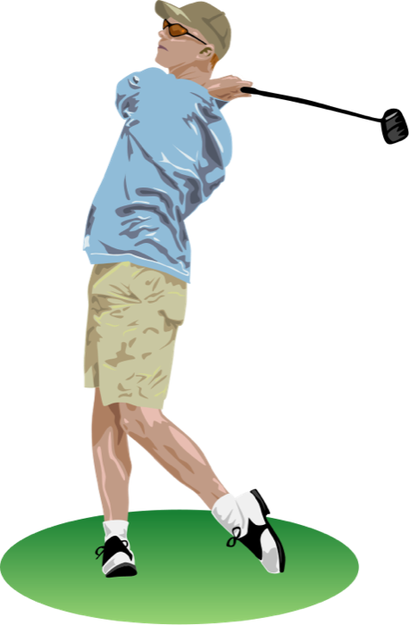 transparent library Golf clipart. Free and animations swing