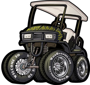 picture black and white library Electric how to test. Golf clipart golf cart