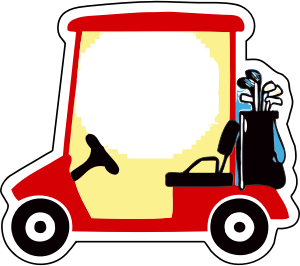 banner free library Small image png . Golf clipart golf cart