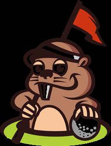vector free stock Gopher animal mascot for. Golf clipart logo
