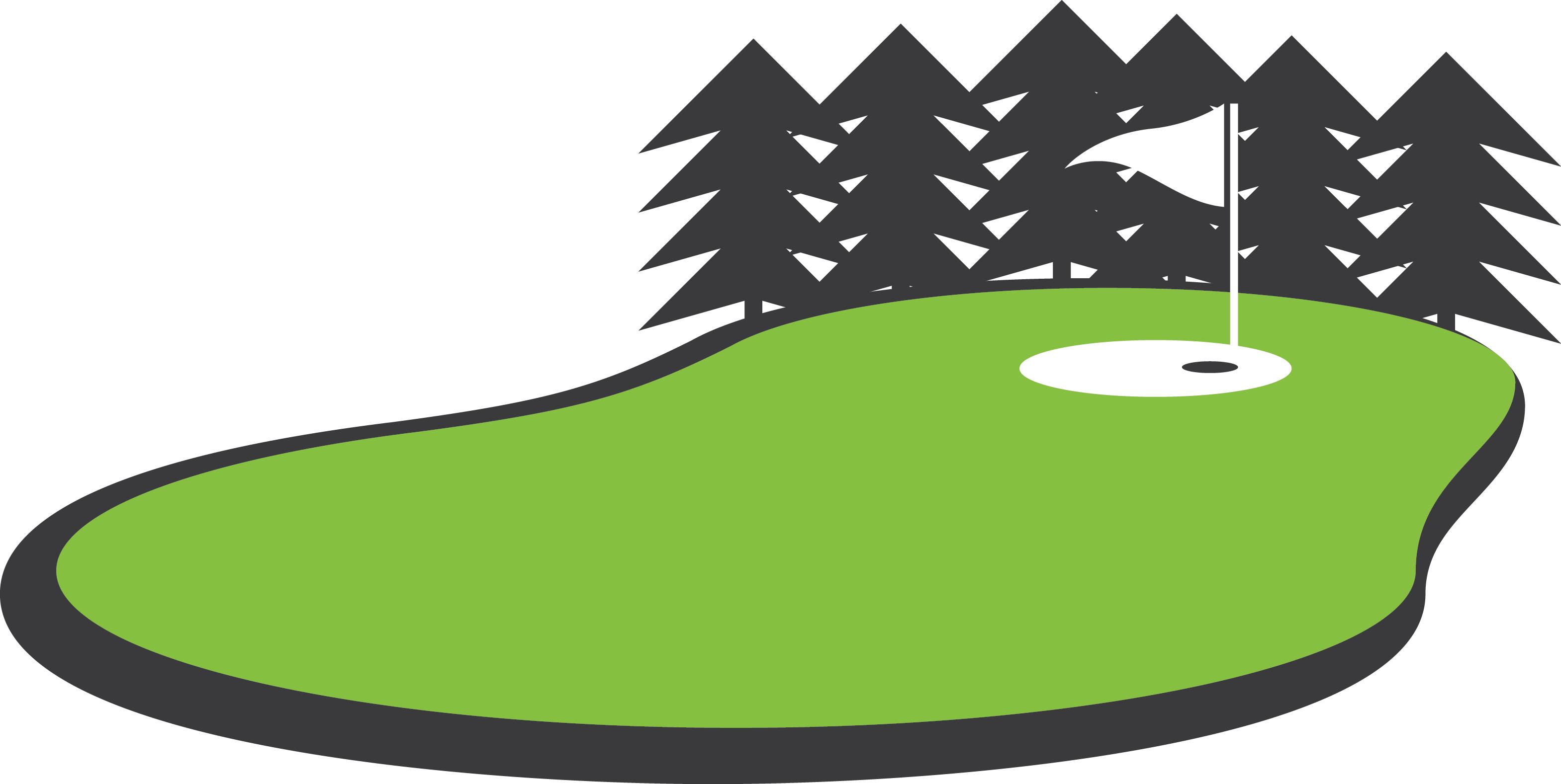 vector Golf Green Clipart