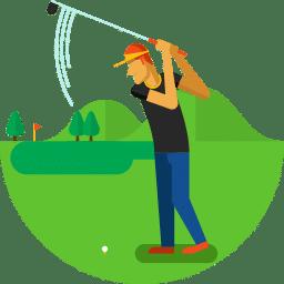 banner download Here s the best. Golfer clipart beginner
