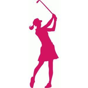 banner transparent stock Golfer clipart female golfer. Silhouette golf fashion drawing