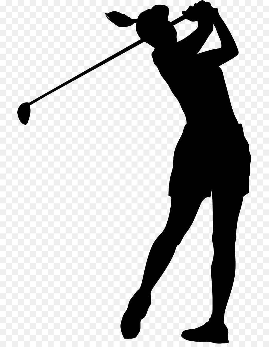 vector black and white download Golfer clipart female golfer. Golf background woman transparent