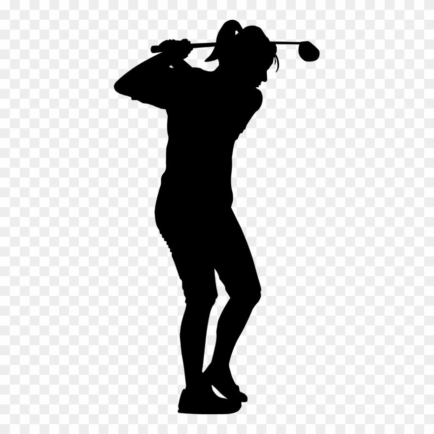 free library Download silhouette golf stroke. Golfer clipart female golfer