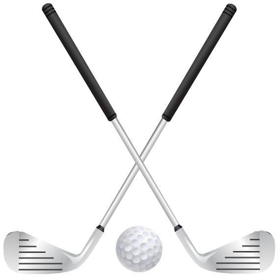 banner freeuse Golfer clipart golf ball club. Free crafts clip art