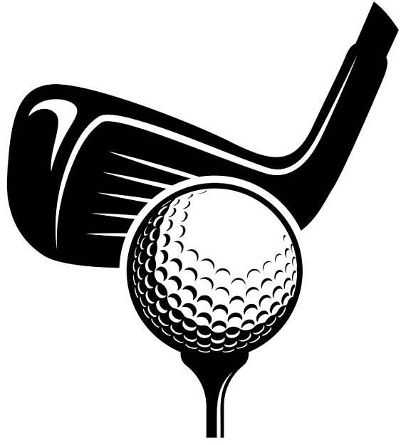vector freeuse stock Logo tournament clubs iron. Golfer clipart golf ball club