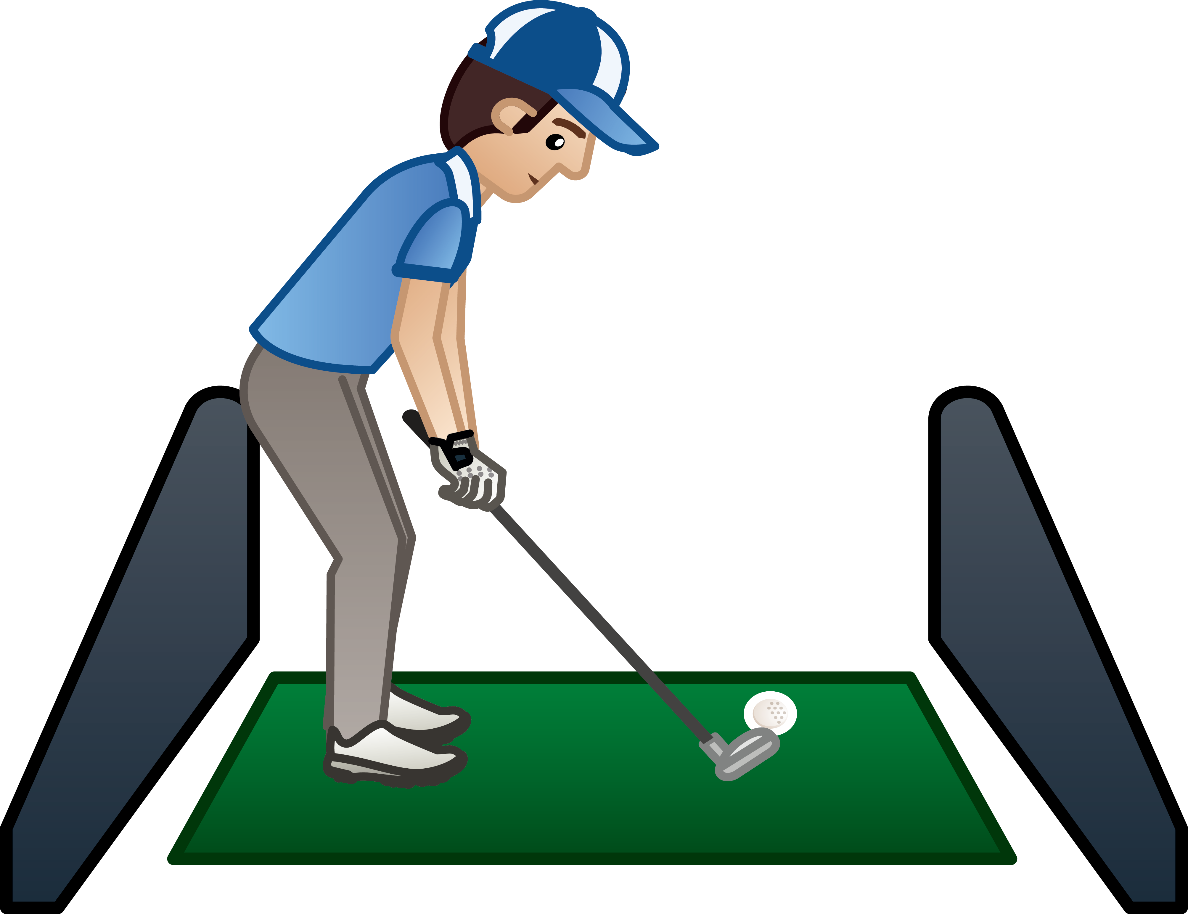 jpg royalty free stock Golfer clipart golf ball club. Driving range clip art