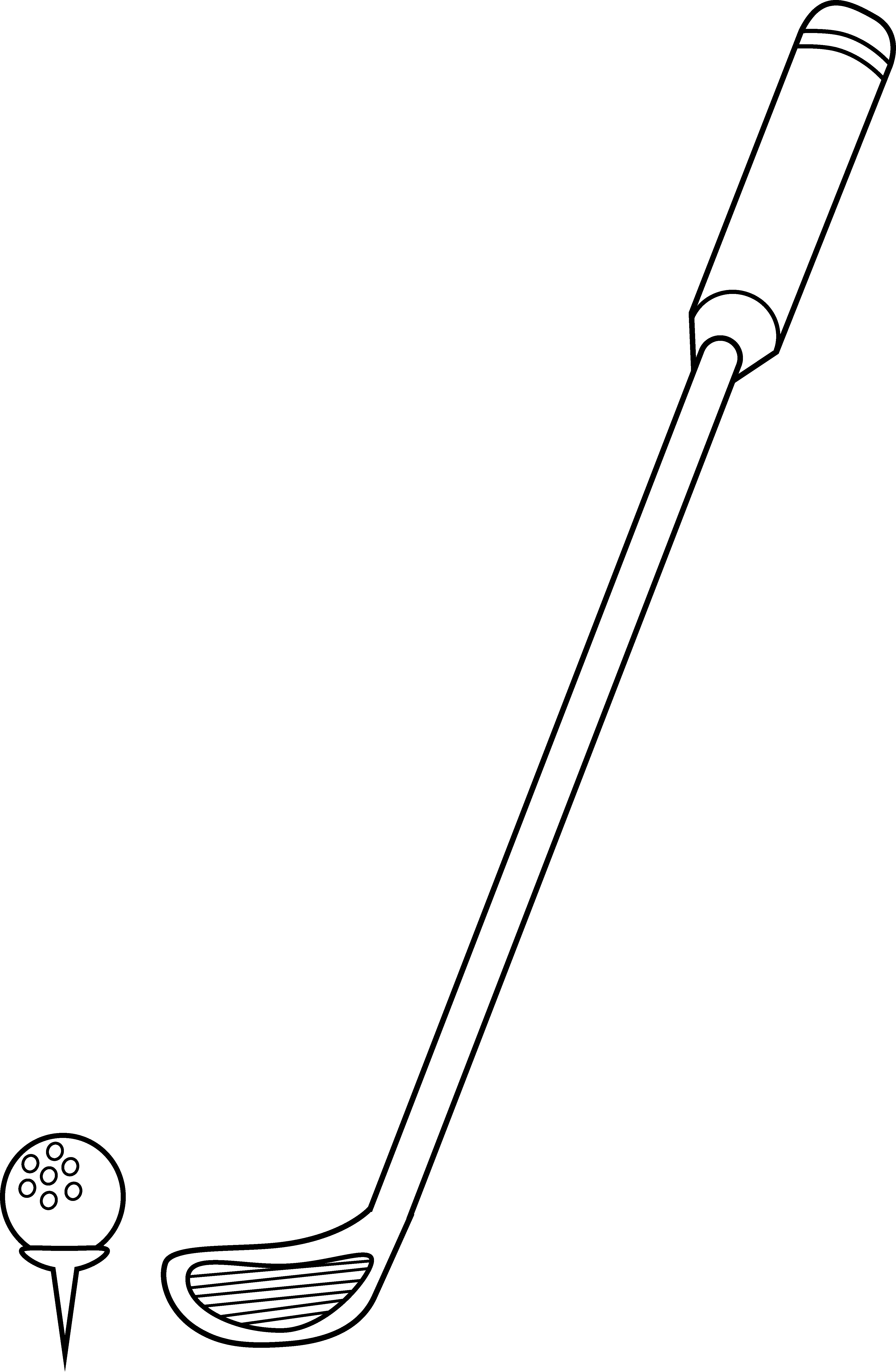 picture free Club clipart drawing. Golf and ball coloring.