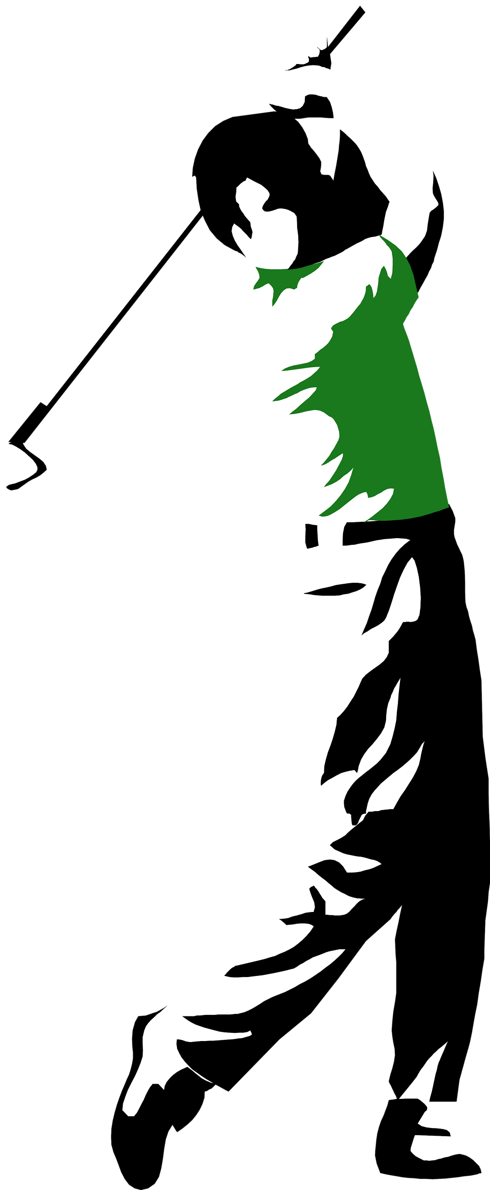 svg black and white library Free stock photo illustration. Golfer clipart golf group