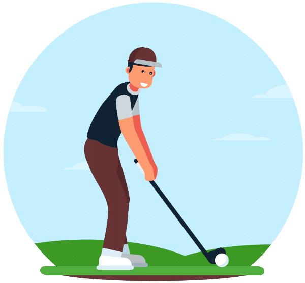 clipart black and white stock The perfect swing plane. Golfer clipart golf group