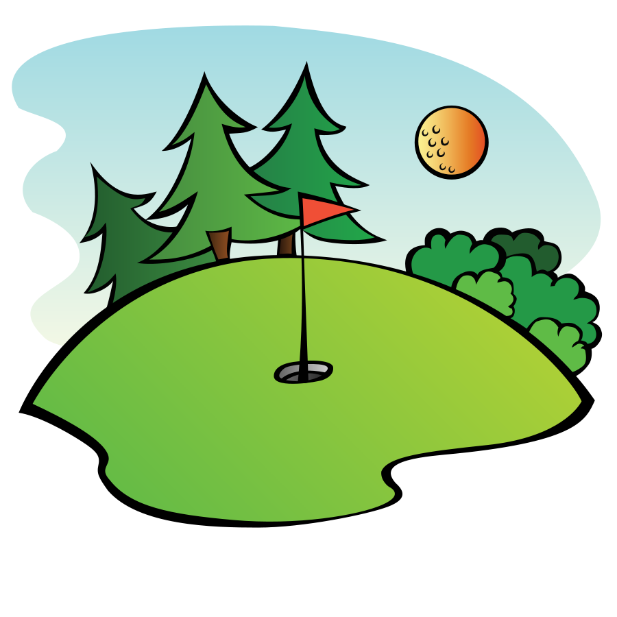 clip art transparent Golfer clipart golf theme. Course
